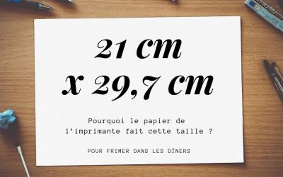 Pourquoi le «A4» mesure-t-il 21 x 29,7 cm ?