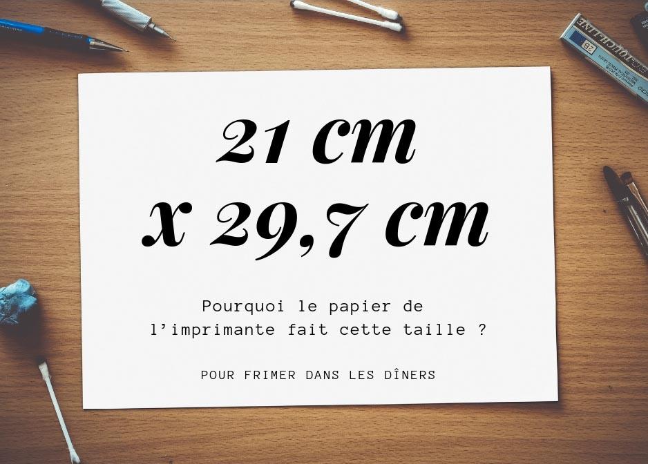 Pourquoi le A4 mesure-t-il 21 x 29,7 cm ?