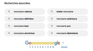 SEO-recherche-mot-cle : recherche associées