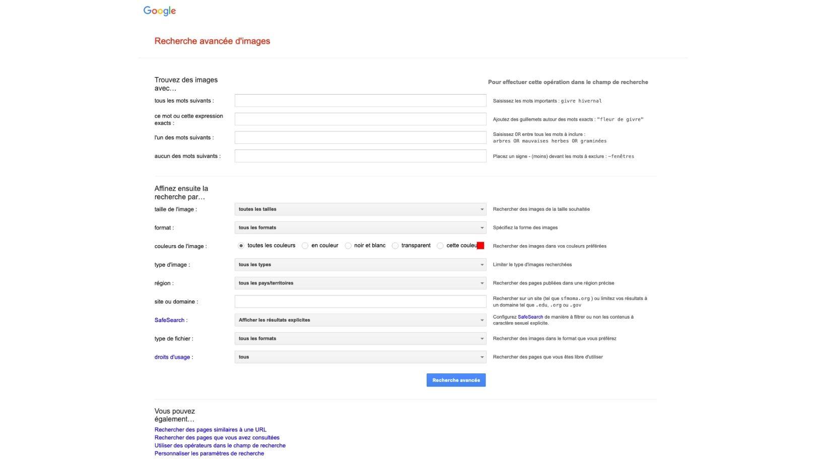 Ou trouver des images libres de droits sur internet - google image