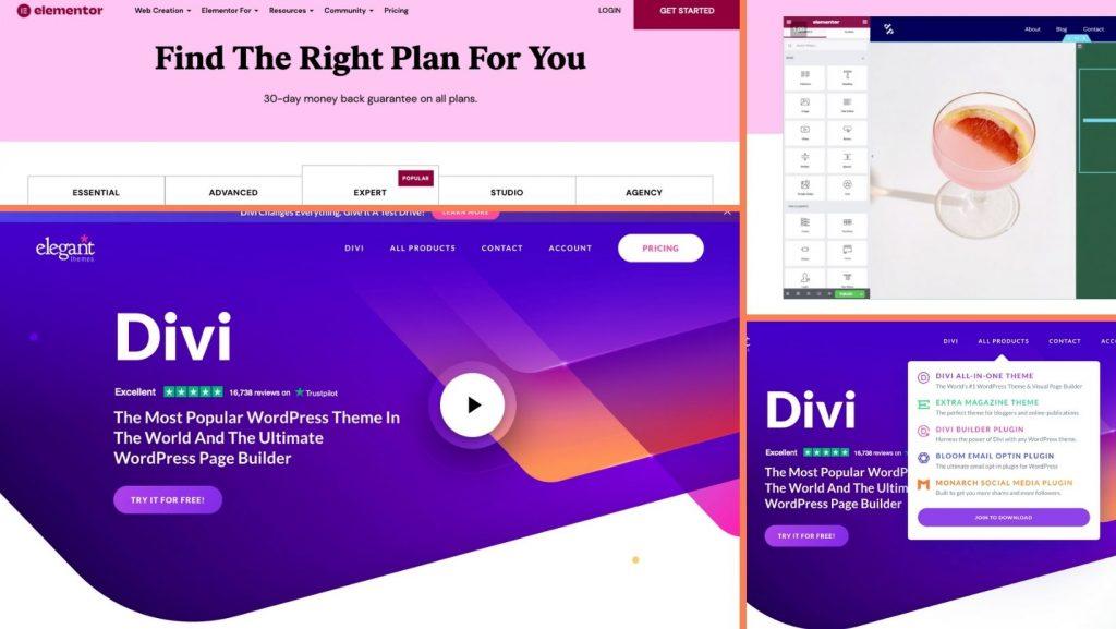 Wix vs WordPress - Divi Elementor
