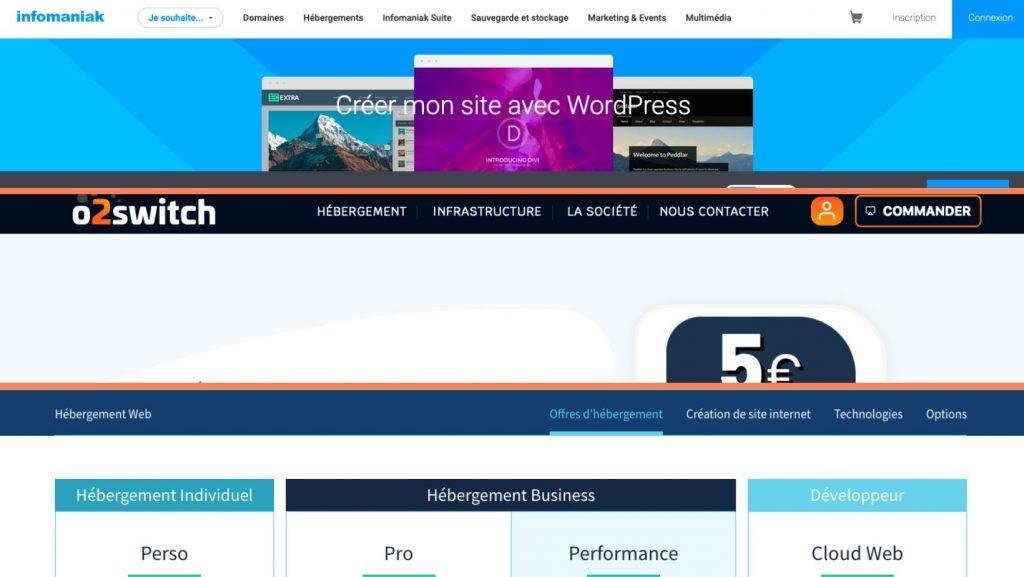 Wix vs WordPress - hebergeurs