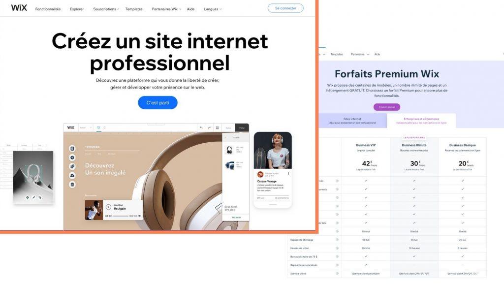 Wix vs WordPress - prix Wix
