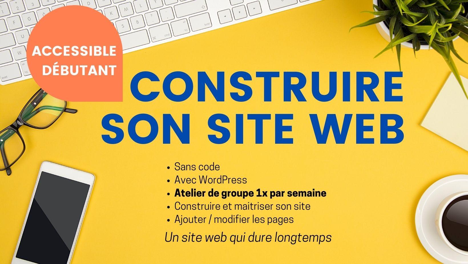 Construire son site web -sans code